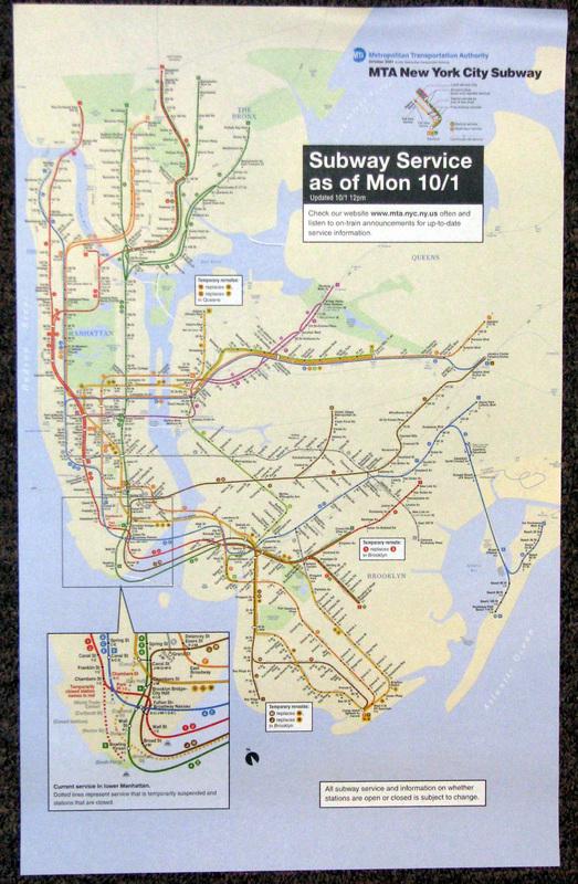 Mta Subway Map 101 2001.2001 World Trade Center Terrorist Attack Map October 1 Goodstuffnowllc