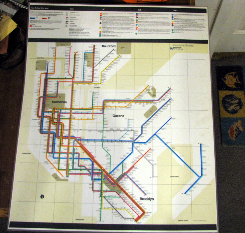Massimo Vignelli 1972 Nyc Subway Map.1972 Massimo Vingelli Map Laminate Goodstuffnowllc