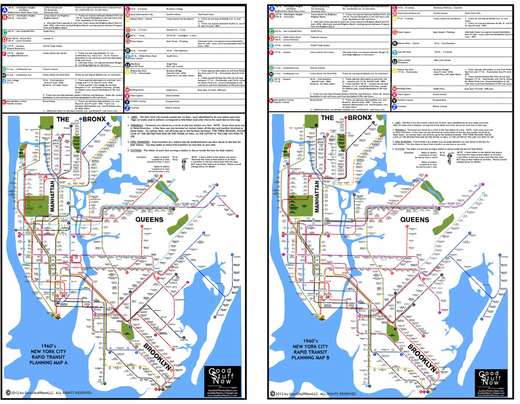 1964 nyc subway planning maps new york city transit authority planning commission